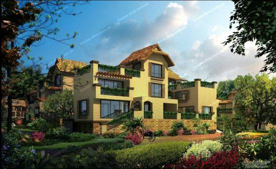 大光龙泉湖别墅创新N+1推出寿命_新盘红砖御园外墙户型图片